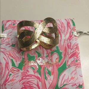 Lilly Pulitzer gold cuff bracelet.